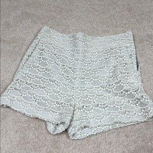 Express crochet zip shorts